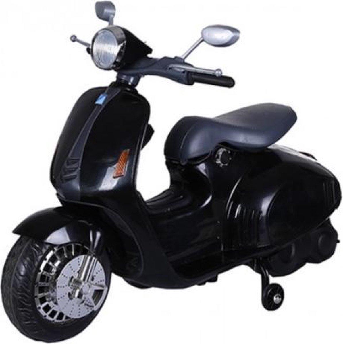 Retro scooter zwart 12V, Elektrische Kinderscooter