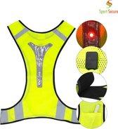 LED sport vest   Hardlopen   Reflecterend vest   Verlichting zorgt voor zichtbaarheid   Verstelbaar en flexibel