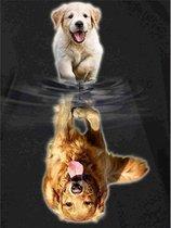Diamond Painting Spiegelbeeld - 40 x 50 cm - Hond