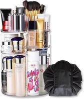 Aryos Draaiende Make-up organizer met Make-up Tasje - Transparant