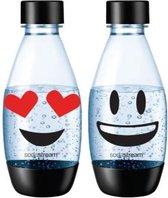 Sodastream herbruikbare flessen - 2 x 0,5 liter - EMOJI