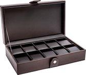 LA ROYALE CLASSICO 10 BR Horlogebox - Bruin - Geschikt voor 10 horloges