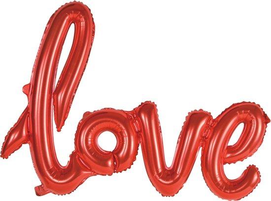 Folie Ballon Love Rood 119cm Leeg