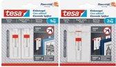 Tesa - 77777 - verstelbare klevende spijker voor behang en pleister - tot 2kg - 2 stuks