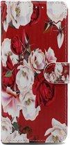 Apple iPhone XR Hoesje met Print - Portemonnee Book Case - Kaarthouder & Magneetlipje - Roses