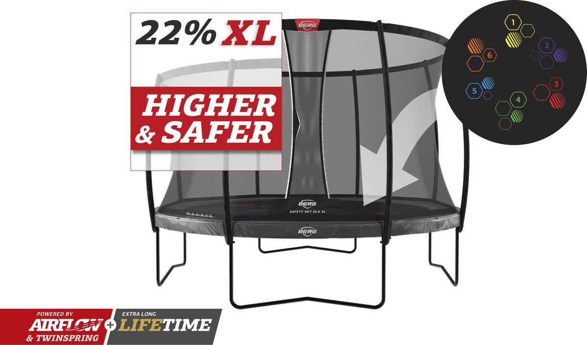 BERG trampoline Elite Levels 430 + Safety Net DLX XL