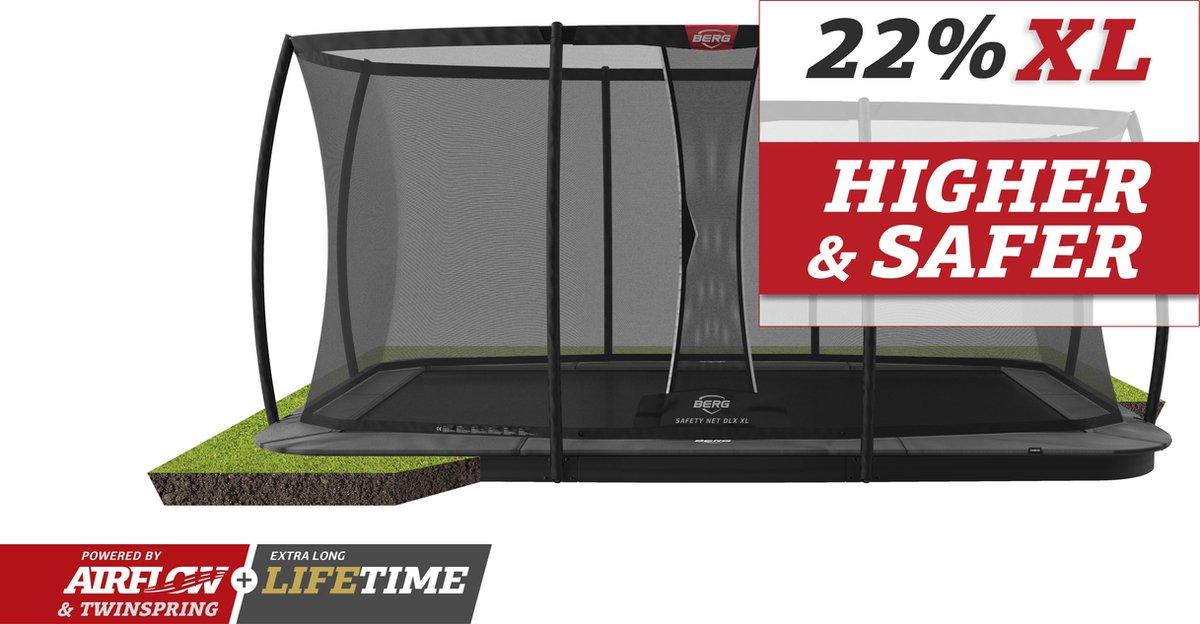 BERG trampoline Ultim Champion Flatground 410 + Safety Net DLX XL