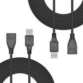 Thredo Set van 2 USB verlengkabel (3 meter) voor Sony Playstation Classic Controller / Console