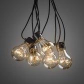 Konstsmide ® 2372-800 - Snoerverlichting - Premium 5 lamps feestverlichting extra warmwit op batterij - 200cm - zeer energiezuinig - ON/OFF/6u timer keuzeschakelaar - 3m aansluitsnoer - voor buiten en binnen