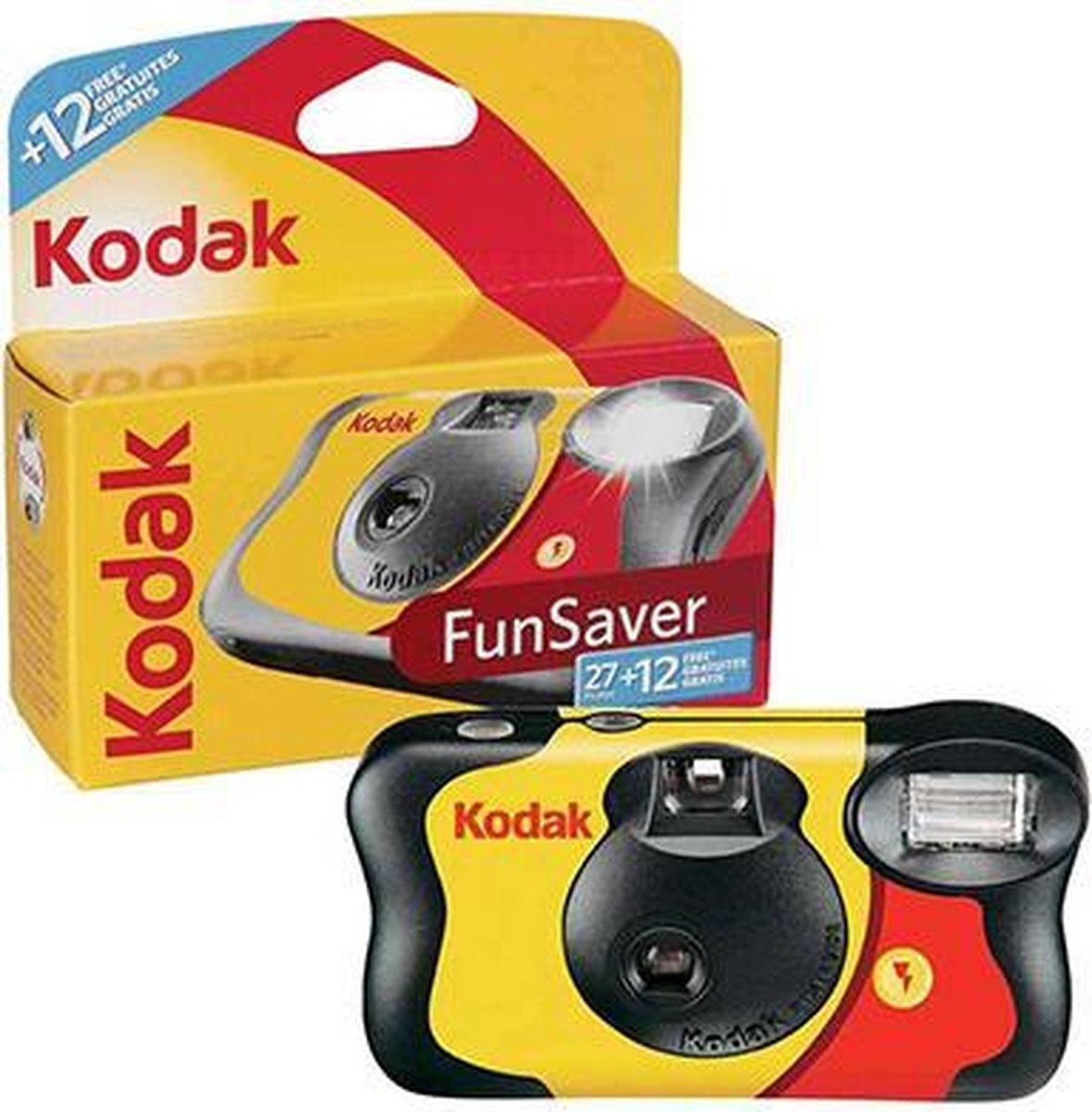 Kodak - Wegwerpcamera met flitser - 39 Opnames / foto's - ouderwets goede kwaliteit van kodak - onui