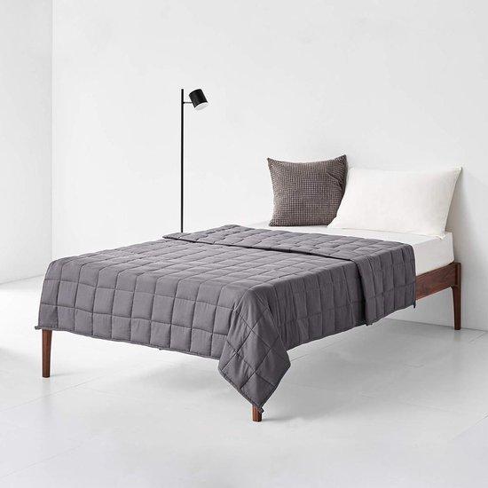 Living Nine Verzwaringsdeken - 7kg - Zwaartedeken - Weighted Blanket - 150x200cm - Grijs