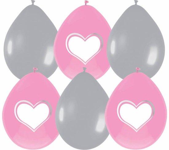 Geboorte Ballonnen Meisje Schrijfbaar Versiering 30cm 6 stuks