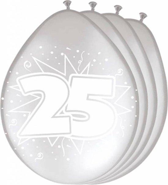 Folat - Ballonnen - 25 Jaar getrouwd - 30cm - 8st.