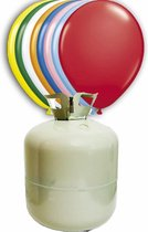 Helium Tank met 50 ballonnen en lint
