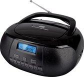 Nikkei NPRD58BK - Draagbare DAB+ Radio/CD-speler