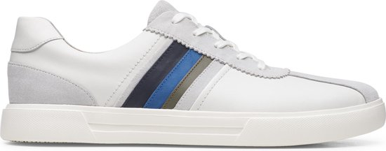Clarks Un Costa Band Heren Sneakers - White Combi - Maat 46