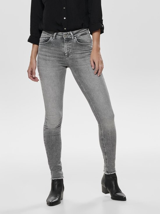 ONLY Dames Jeans ONLBLUSH MID SK ANK RAW Skinny fit W32 X L32