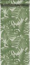 ESTAhome behang tropische bladeren vergrijsd olijfgroen - 138990