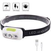 Hoofdlamp - LED - USB Oplaadbaar - Hardloop verlichting - Zaklamp - Klussen Lamp - Waterdicht - Camp