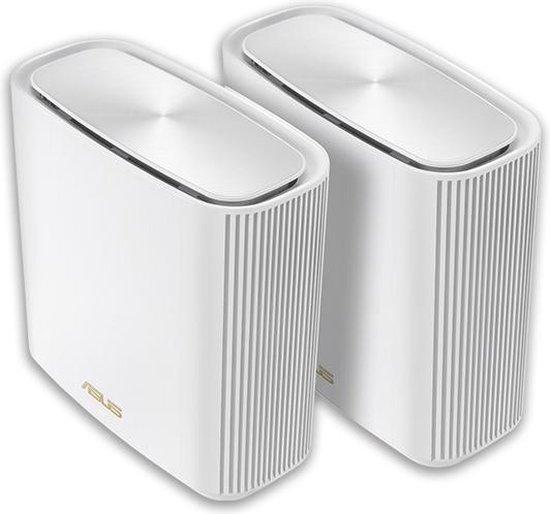 ASUS ZenWiFi AX (XT8) - Draadloze router - Geschikt voor Wifi 6 - 2-pack / Wit