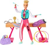 Barbie Gymnastiek Pop en Speelset - Barbiepop