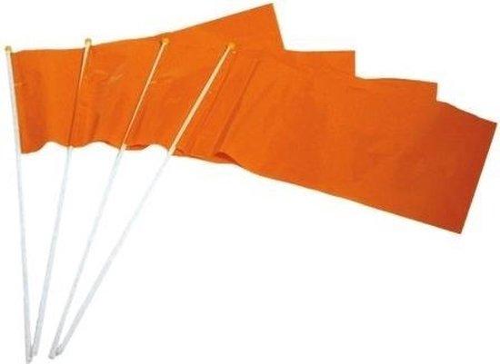 Haza Original Zwaaivlag Kunststof 20 X 30 Cm Oranje