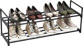 Praktisch Schoenenrek voor 10 Paar Schoenen - Metaal - Zwart