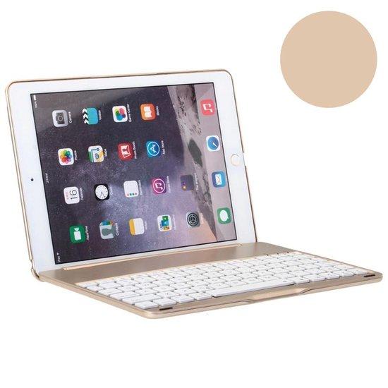 Shop4 iPad Air 2 Toetsenbord Hoes Bluetooth Keyboard Cover Shell Aluminium Goud