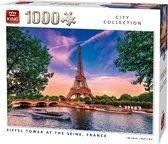 Puzzel 1000 Stukjes EIFFEL TOWER AT THE SEINE, FRANCE