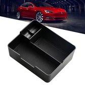 Tesla Model 3 Middenconsole Organizer Auto Accessoires Opbergbak – Zonnebril Houder Lade – Zwart
