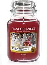 Yankee Candle Christmas Magic geurskaars - 18 x 10 cm - Houtig