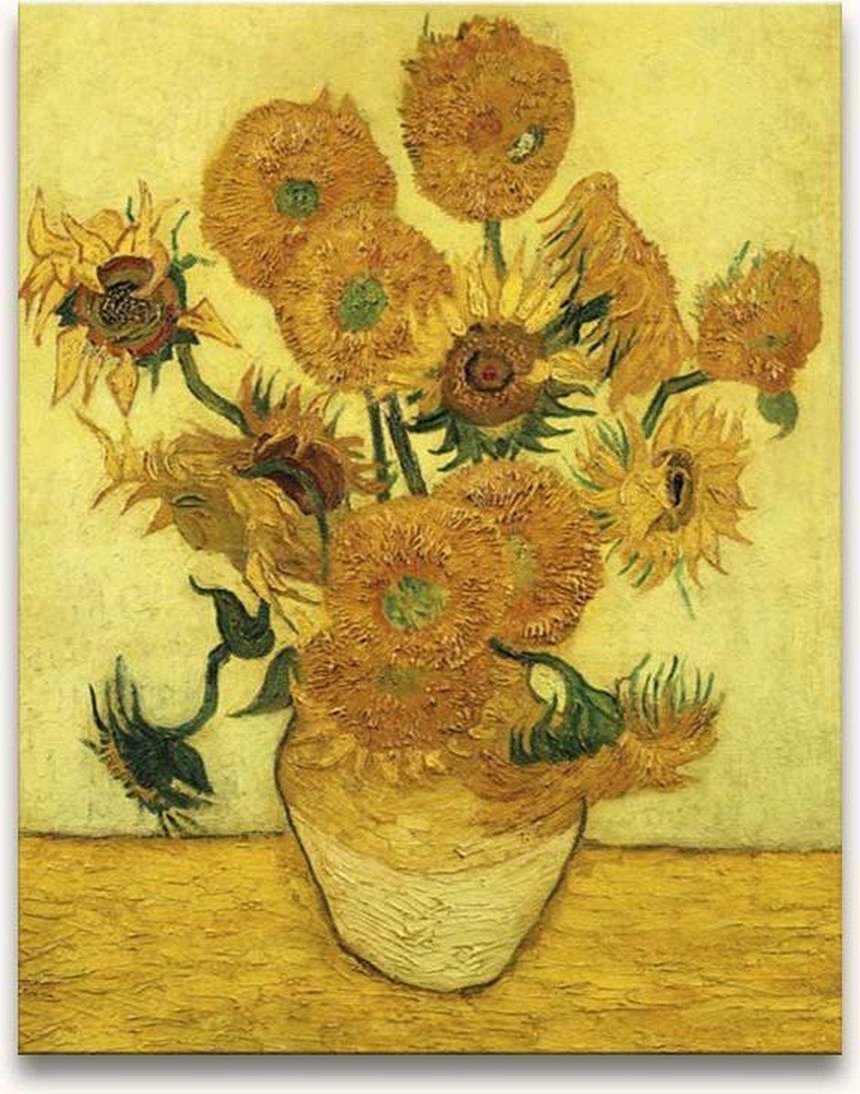 Grootmeesters ® Handgeschilderd schilderij Olieverf op Canvas Zonnebloemen online kopen