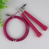 Steel Wire Skipping Skip Adjustable Fitness Jump Rope?Length: 3m(Megenta)