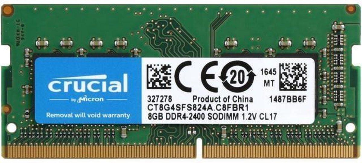 Crucial CT8G4SFS824A 8GB DDR4 SODIMM 2400MHz (1 x 8 GB)