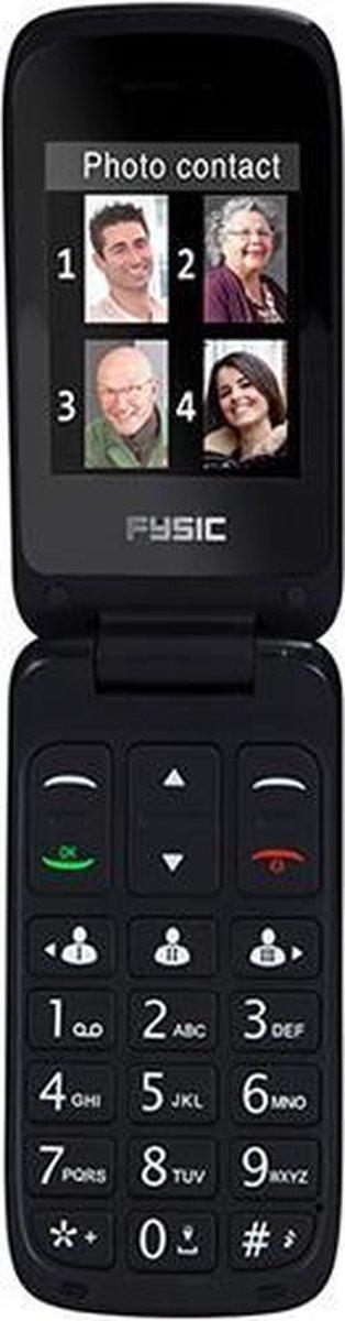 Fysic FM-9760ZT Mobiele klaptelefoon – Geschikt voor hoortoestellen (M3/T4) – Zwart