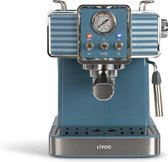 Livoo – Retro Espressomachine – kleur petrol
