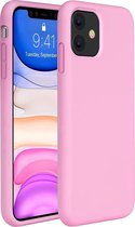 iPhone 11 Hoesje Siliconen Case Hoes Back Cover TPU - Roze