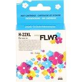 FLWR - Inktcartridge / 22XL / Kleur - Geschikt voor HP