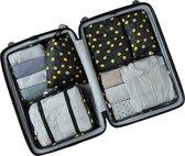 Travel cubes | Packing Cubes Set 6-delig | Koffer accessoires| Opbergtassen | Opbergzakken | | Kleding organizer | Travel bags | Onbezorgd en georganiseerd reizen| Reistas | Black-Lemon