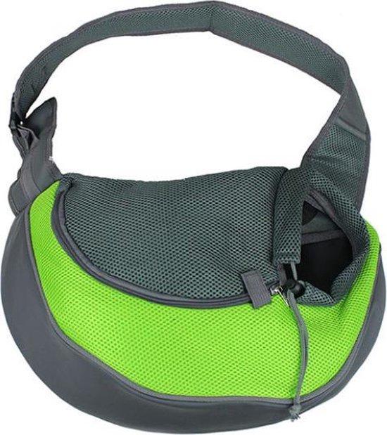 WiseGoods - Honden Draagtas - Draagtas - Schoudertas - Puppy Reis Tas - Draagzak Voor Honden - Draagzak - Veilig - Comfortabel - Groen