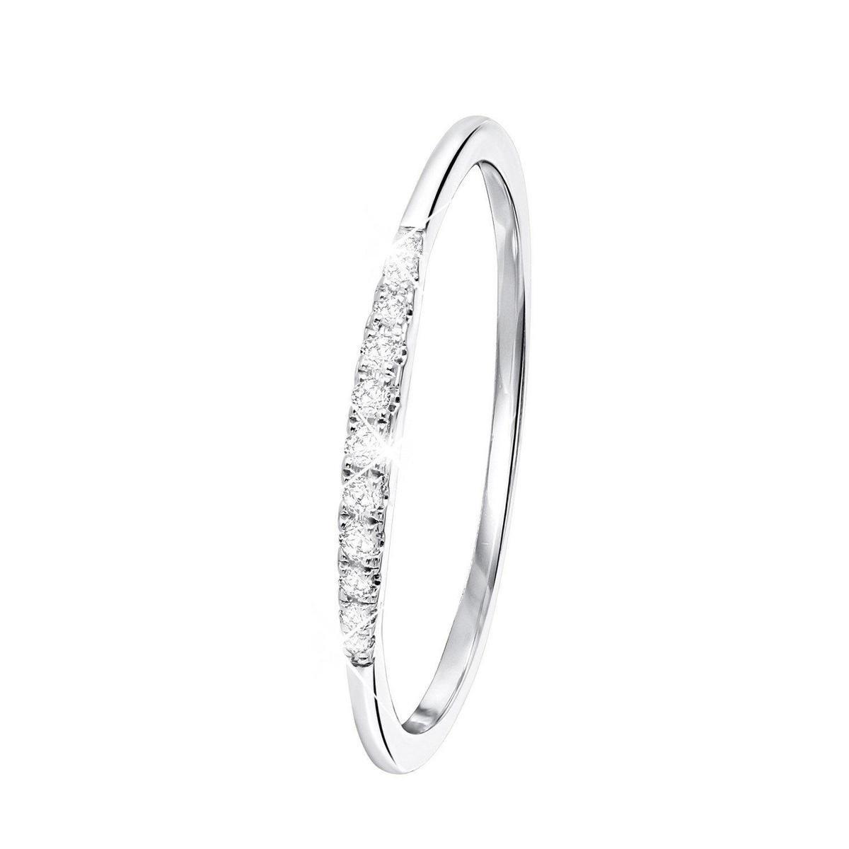 14 Karaat witgouden ring met diamant (0,06ct)