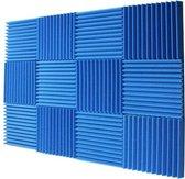Wervox - Studio Isolatie - Blauw - 4 PACK + Kleefpads - geluidsisolatie - isolatie - isolatieplaten - akoestisch studioschuim - studio foam - studioschuim - studio