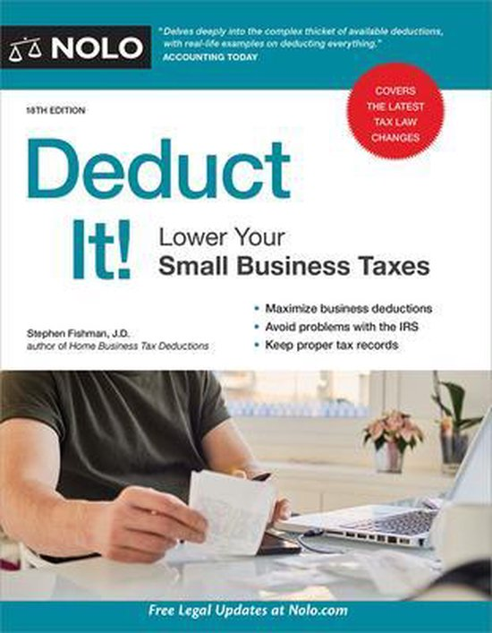 Boek cover Deduct It!: Lower Your Small Business Taxes van Stephen Fishman (Paperback)