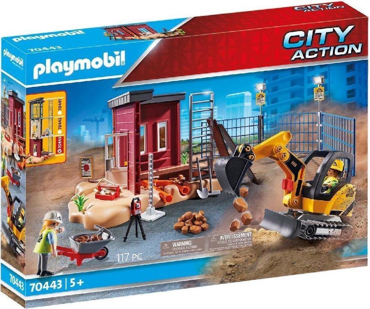 PLAYMOBIL City Action Mini graafmachine met bouwonderdeel - 70443