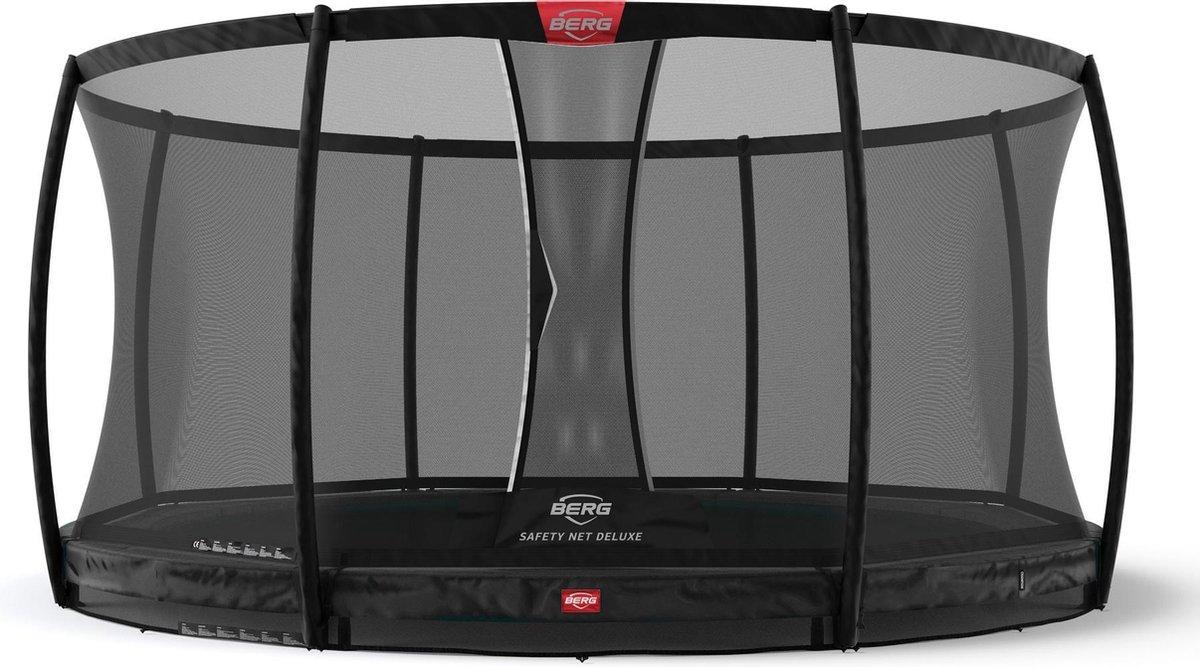 BERG Trampoline Champion Inground 330 Black Limited Edition + Safetynet Deluxe - met Airflow - zwart
