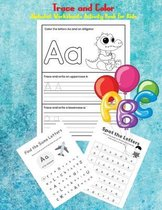 Trace and Color Alphabet Worksheets Activity Book For Kids