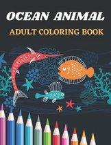 Ocean Animal Adult Coloring Book