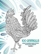 Adult Coloring Book Stress Relieving Designs Volume 2 - 100 Animals