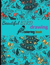 Beautiful BIRD coloring book drawing