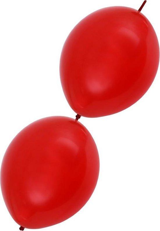 Doorknoop Ballonnen 12 stuks Rood, 3,60 meter, Verjaardag, Themafeest